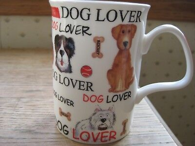 "Roy Kirkham 2009 ""DOG LOVERS"" fine bone china mug. Perfect Valentine Gift!"