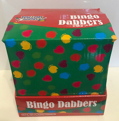 Bingo Dotter Dabber Colour Pens Fun Tombola Game Green Blue Red Purple Tallon