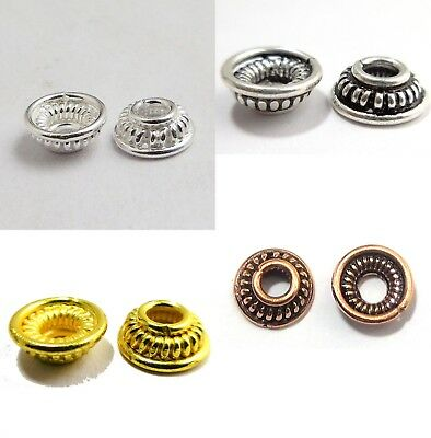 30 Pcs 8Mm Sterling Silver Plated Gold Plated Solid Copper Bali Bead Cap 254