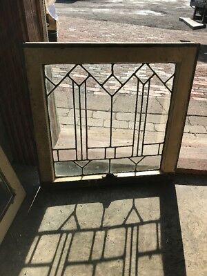 Sg 2196 Antique Leaded Glass Window 22.25 Wide By 21. 5H