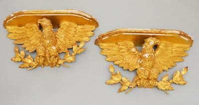 An Impeccable Pair Of Gilt & Gesso Carved Eagles Lot 63