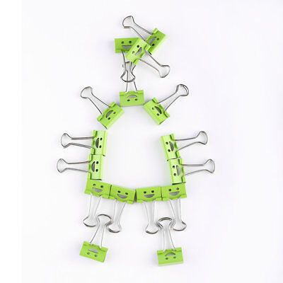 40Pcs 19mm Smile Metal Binder Clips For Home Office File Paper Organizer OP