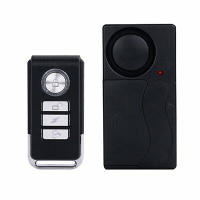 Durable Remote Control Wireless House Doors Window Security Vibration Alarm AE