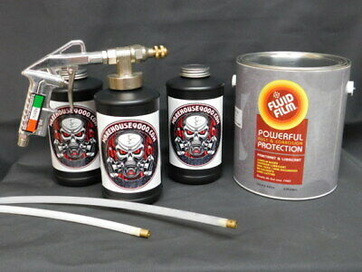 FLUID FILM PRO - UNDERCOAT RUST PROOF KIT & 200 Rust Plugs MAKE MONEY SAVE MONEY