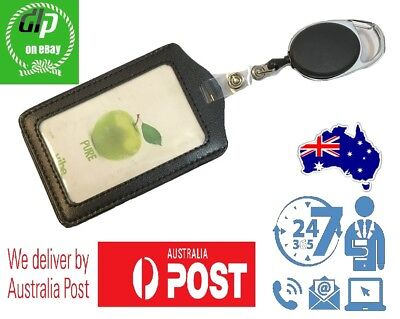 Retractable Lanyard ID Card Holder, Business Badge, Security Pass | Aus Seller