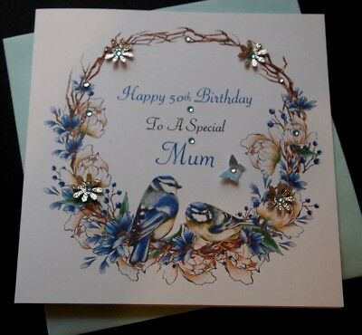 Handmade Personalised Birthday Card Mum Daughter Dad Son Nan Gran