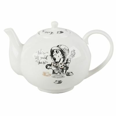 New Creative Tops V&A Alice in Wonderland China Gold Large 4-Cup Gift Box Teapot