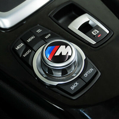 o5,  Multimedia button M Power sticker Auto embleem idrive BMW logo