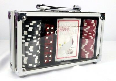 Brand NEW THE FAMOUS GROUSE Poker Chip Playing Card Dice Set Carry Case. SEALED