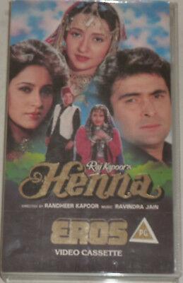 Henna Vhs Video Tape Bollywood Hindi Indian Movie Film Rishi