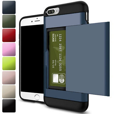 Shockproof Wallet Credit Card Pouch Holder Case Cover For iPhone X 8 7 6s Plus