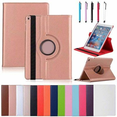 360 Rotating Smart Flip Stand Leather Case Cover For iPad 6th Generation 5th Gen