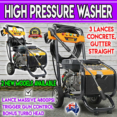 4800 PSI High Pressure Car Washer Cleaner Petrol 8HP Power Water Gurney 4 Stroke