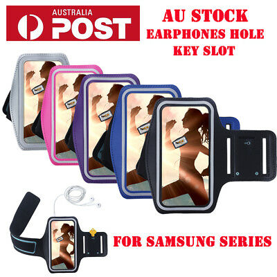 For Samsung Note 5/8 S8 S9 Plus Gym Sports Armbands Running Case Jogging Cover