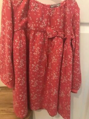 Beautiful Dress By Vertbaudet Toddler Girl 2-3 Years Reddish Pink Colour