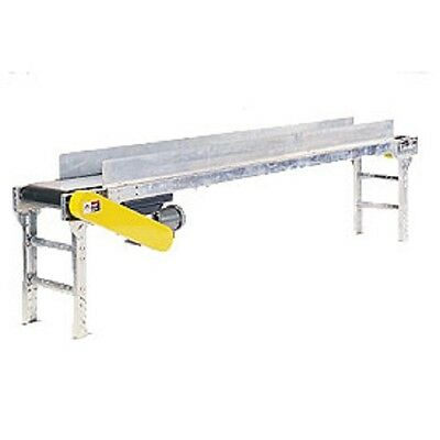 """NEW! Powered 24""""W x 30'L Belt Conveyor with 6""""H Side Rails!!"""