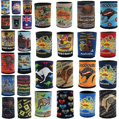 6x Australia Stubby Stubbie Holder Beer Bottle Tin Can Drink Alcohol Cooler Gift