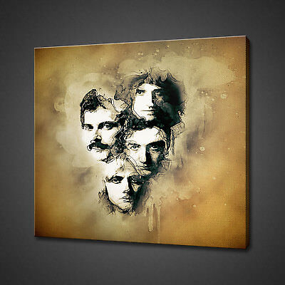 Queen Freddie Mercury Canvas Picture Print Wall Art Home Decor Free Delivery