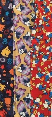 NWT LuLaRoe Disney Kids L/XL Large Kids Leggings New Mickey Lot Of 3