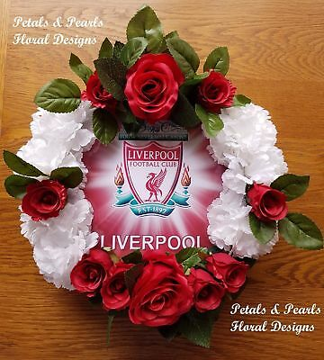 Liverpool Football Club Funeral Wreath Artificial Flowers Grave Memorial Tribute