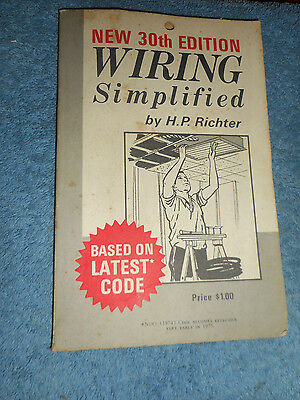 Wiring Simplified H P Richter Vintage New 30Th Edition 1971 Park Publications