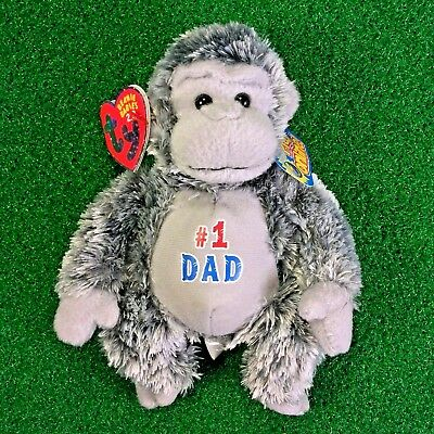 NEW Ty Beanie Babies 2.0 Pops The Gorilla 2008 Plush Toy MWMT - FREE Shipping