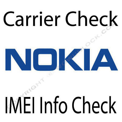 Check Nokia imei info - Carrier Network Country Warranty Info Check Fast