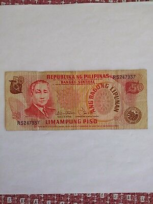 PHILIPPINES  Bank Note/ Circulated/ Collectible/ or use for Teaching/ Crafts.