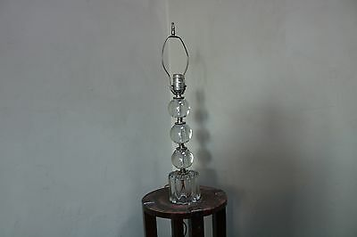 """Antique 1920s Heavy Glass Lamp 22.5"""" Tall"""