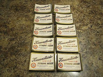 lot of 1,000  Hauenstein's New Ulm Strong Beer Tax Paid Label   new old stock