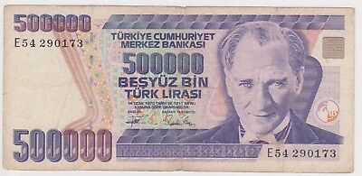 (K67-8) 1970 Turkey 1/2 million lira bank note