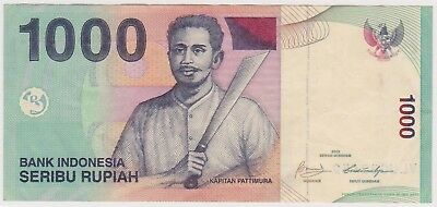 (N13-12) 2009 Indonesia 1000 Rupee bank note (C)