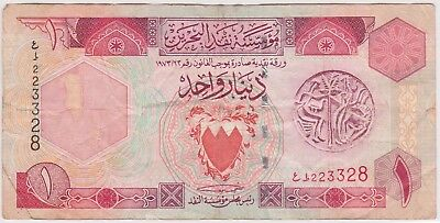 (K67-20) 1973 Bahrain 1 dinar bank note (C)