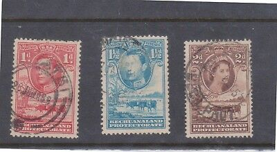 (K68-42) 1938-55 BECHUANLAND protectorate 3 stamps to 2d