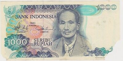 (N13-14) 1980 Indonesia 1000 Rupee (space filler) Bank note (E)