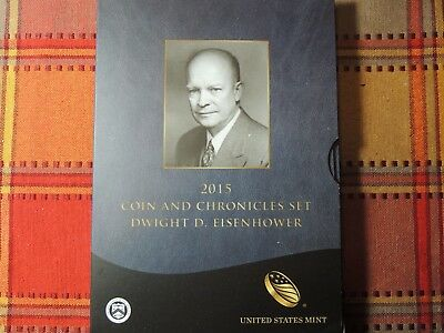 2015 Coin and Chronicles Dwight D. Eisenhower Set Reverse Proof