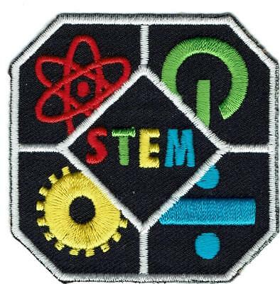 Boy Girl S.T.E.M. Science tech Engineering Math Patches Badge Crest GUIDE SCOUT