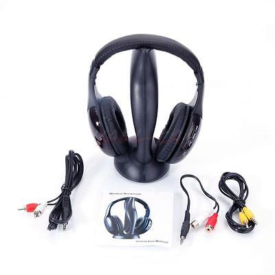 8 in 1 Wireless Headphone Stereo Headset For FM Radio Mp3 Player TV CD/DVD PC CA