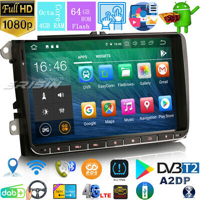 "8""Android 8.1 Car GPS Sat Nav DAB+CD For PASSAT GOLF JETTA CADDY TOURAN EOS SEAT"