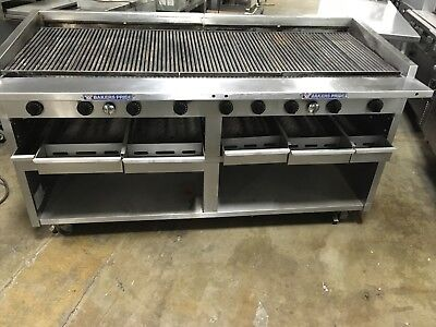 Bakers Pride F-72 72 Inch Floor Model Natural Gas Charbroiler WORKS GREAT!