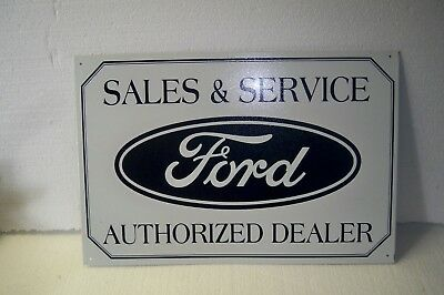 Reproduction metal Ford Sales & Service Authorized Dealer sign