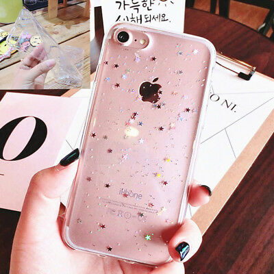 Luxury Bling Glitter Souple Antichoc Silicone Coque Housse Pour iPhone XS 7 8 6S