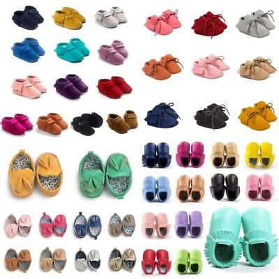 Toddler Baby Tassel Soft Sole Suede Shoes Infant Newborn Boy Girl Moccasin Shoes