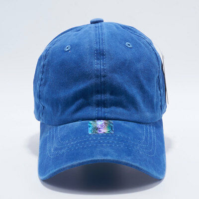 Pit bull Pigment Dyed Washed Cotton Classic Vintage Dad Baseball Buckle Hat Cap