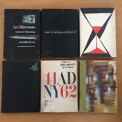 New York Art Directors club Annuals of  Advertising and Editorial Art  -6  books