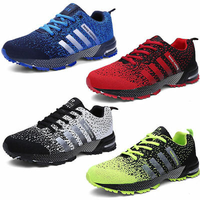 Mens Women Running Gym Trainers Sport Shoes Casual Breathable Sports Sneakers