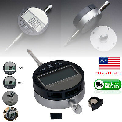 0-25.4mm/1'' Digital Probe Range 0.01mm/0.0005'' Dial Indicator Clock DTI Gauge