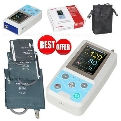 Ambulatory Blood Pressure Monitor NIBP Holter ABPM50 With 3 Cuffs Software FDA