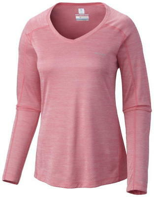 Columbia Women's Zero Rules Long Sleeve Shirt - L, PNK
