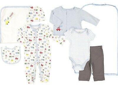 STERLING BABY - 7-Piece Baby Adorable Quality Clothing Gift Set 3m/6m/9m